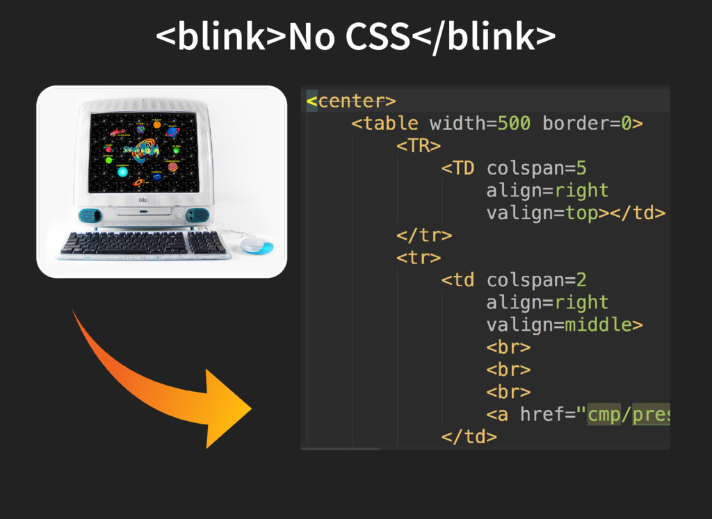 <blink>No CSS</blink>