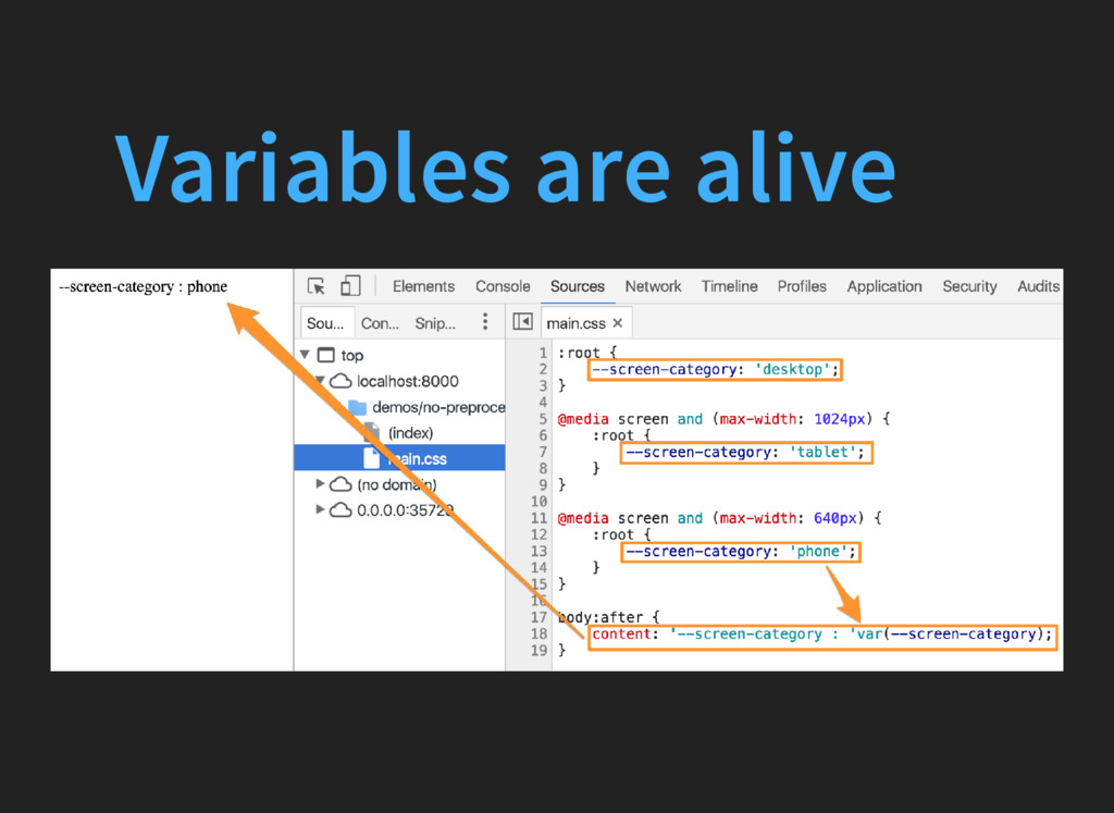 Variables are alive