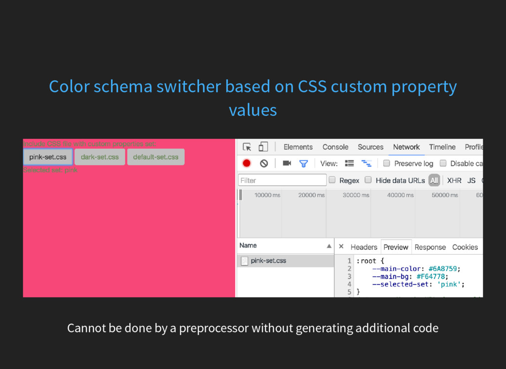 Color schema switcher based on CSS custom prope...