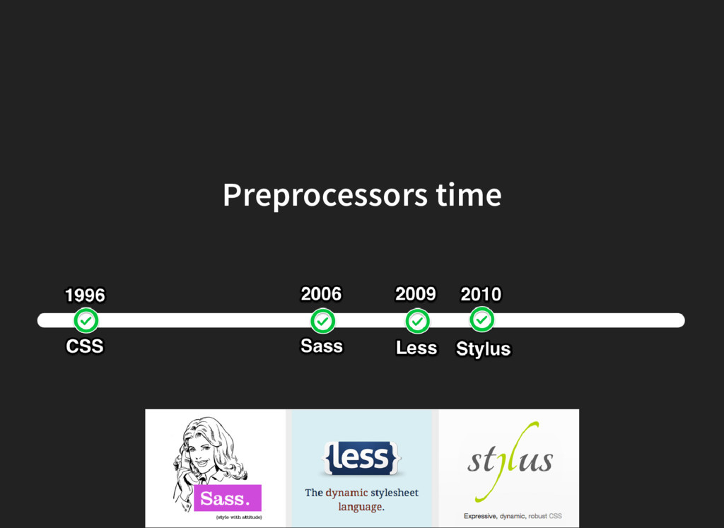 Preprocessors time