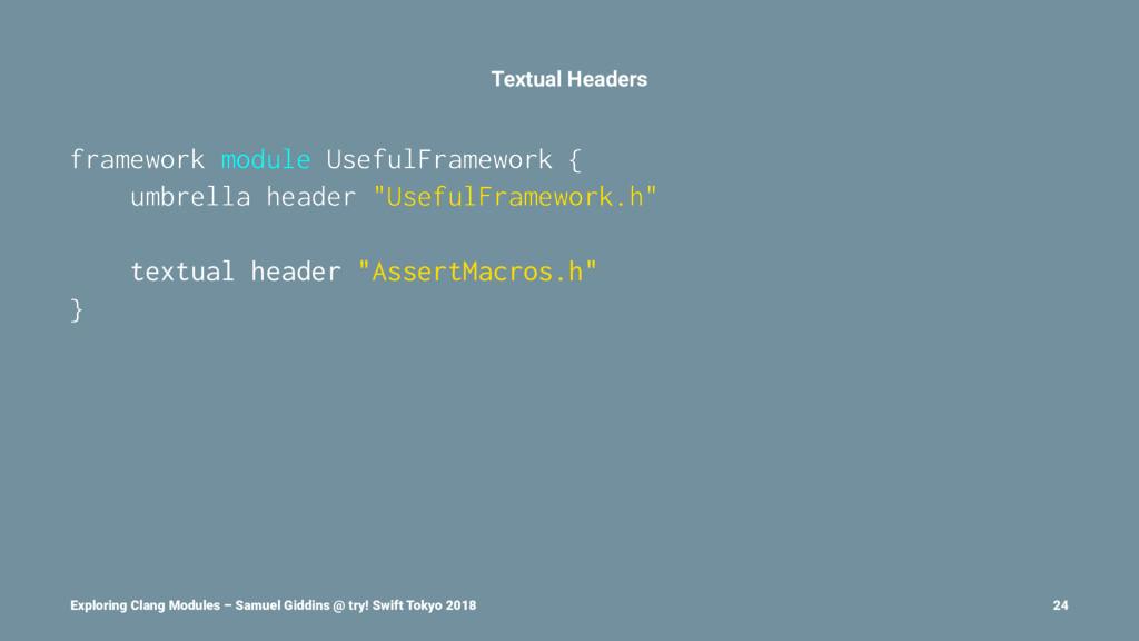 Textual Headers framework module UsefulFramewor...