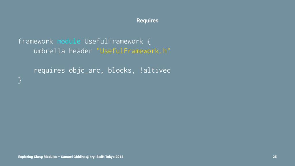 Requires framework module UsefulFramework { umb...