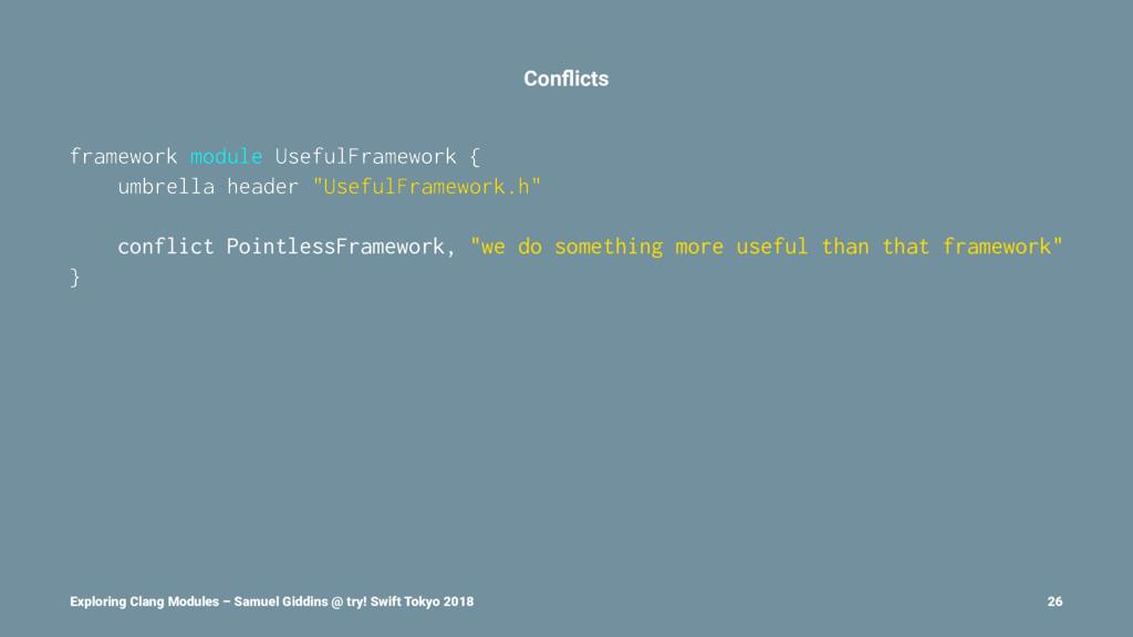 Conflicts framework module UsefulFramework { umb...