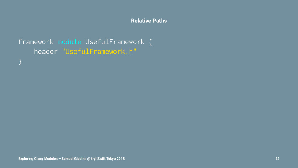 Relative Paths framework module UsefulFramework...