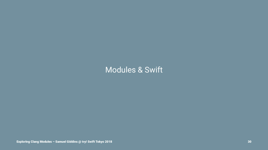 Modules & Swift Exploring Clang Modules – Samue...