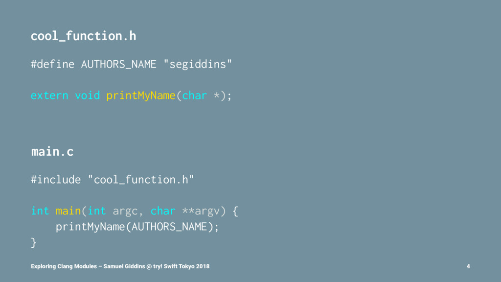 "cool_function.h #define AUTHORS_NAME ""segiddins..."