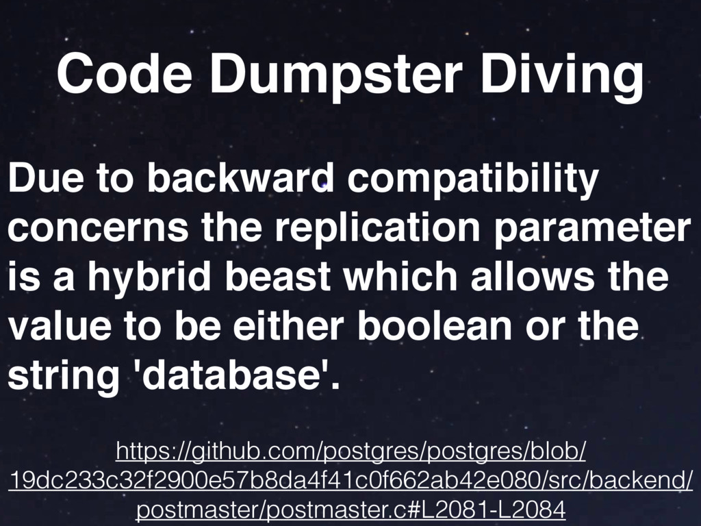 Code Dumpster Diving Due to backward compatibil...