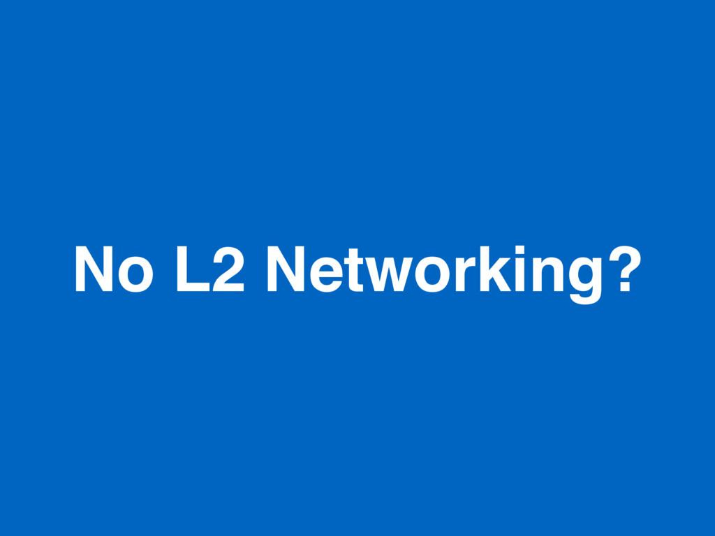 No L2 Networking?
