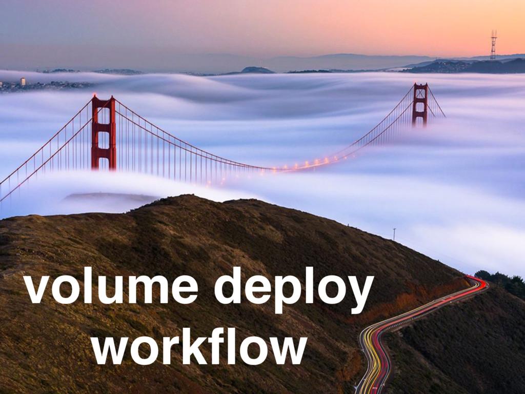volume deploy workflow