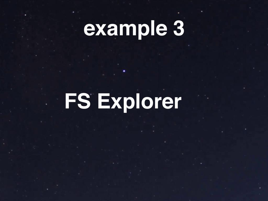 example 3 FS Explorer