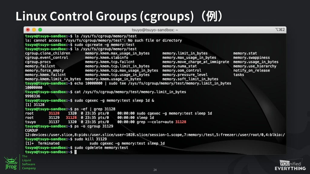 Linux Control Groups (cgroups) 24