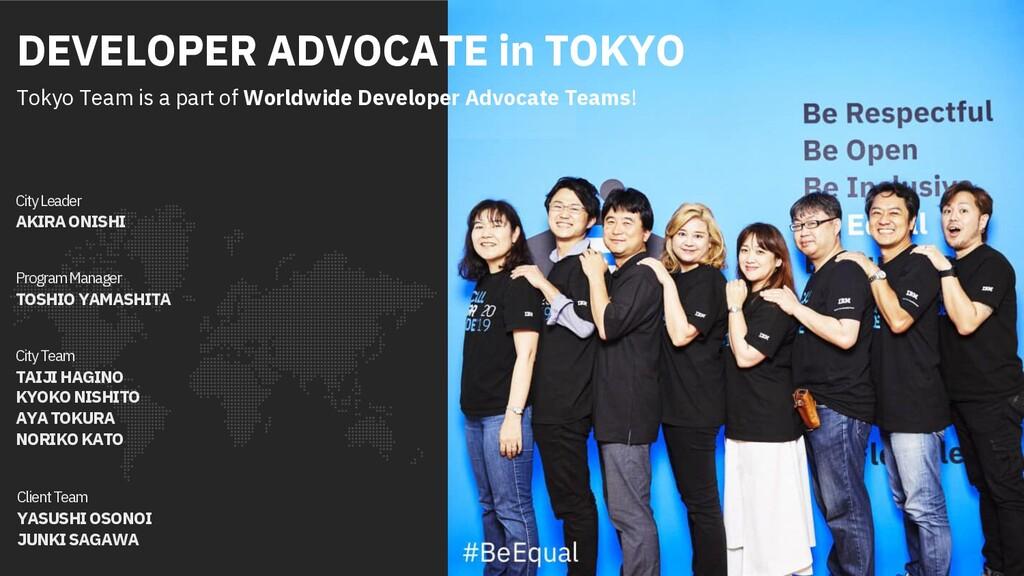 City Leader AKIRA ONISHI City Team TAIJI HAGINO...