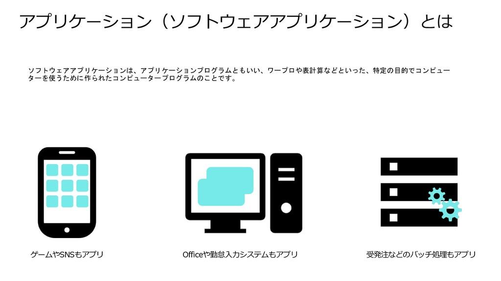 アプリケーション(ソフトウェアアプリケーション)とは ソフトウェアアプリケーションは、アプリケ...
