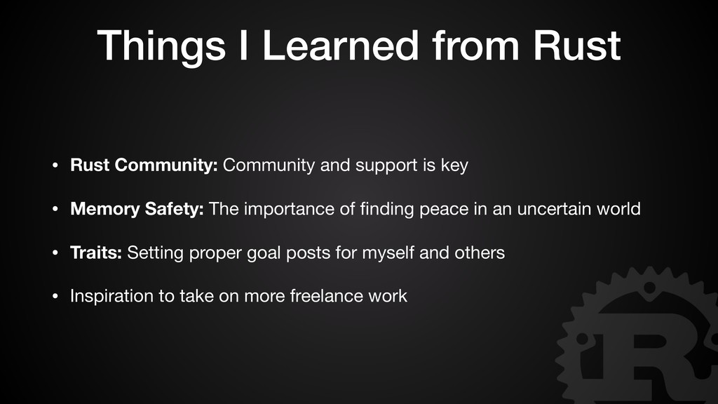 Things I Learned from Rust • Rust Community: Co...
