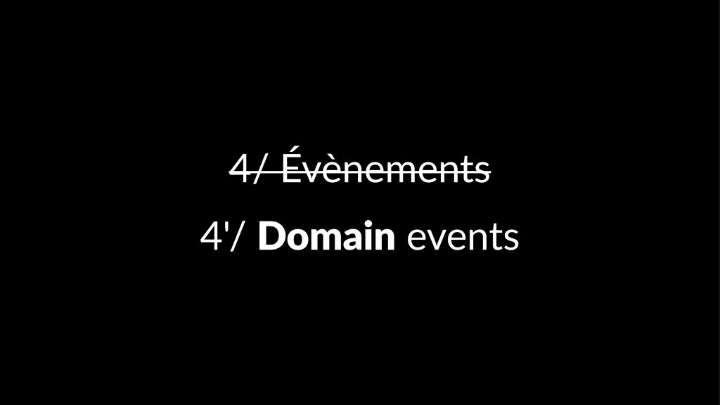 4/ Évènements 4'/ Domain events