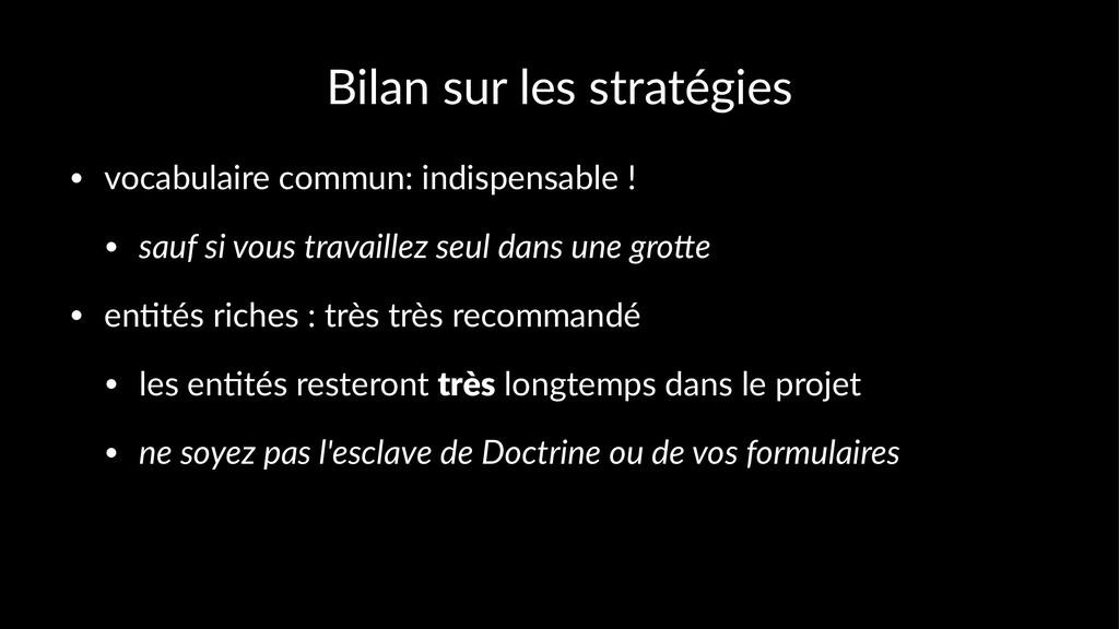 Bilan sur les stratégies • vocabulaire commun: ...