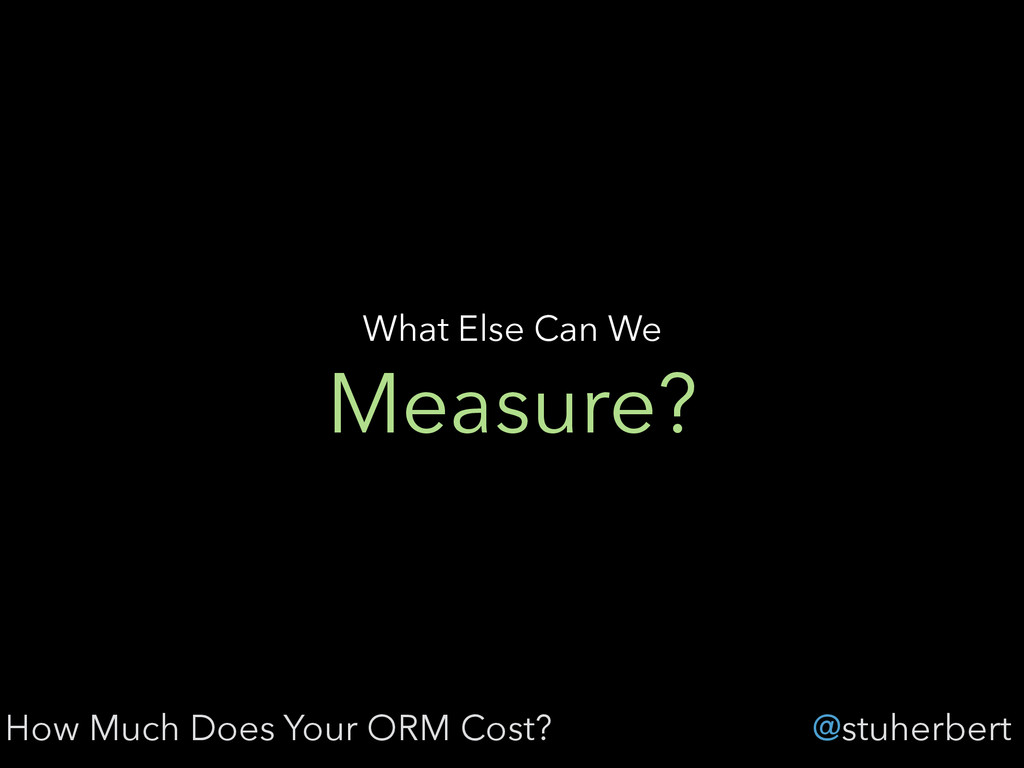 @stuherbert Measure? What Else Can We How Much ...