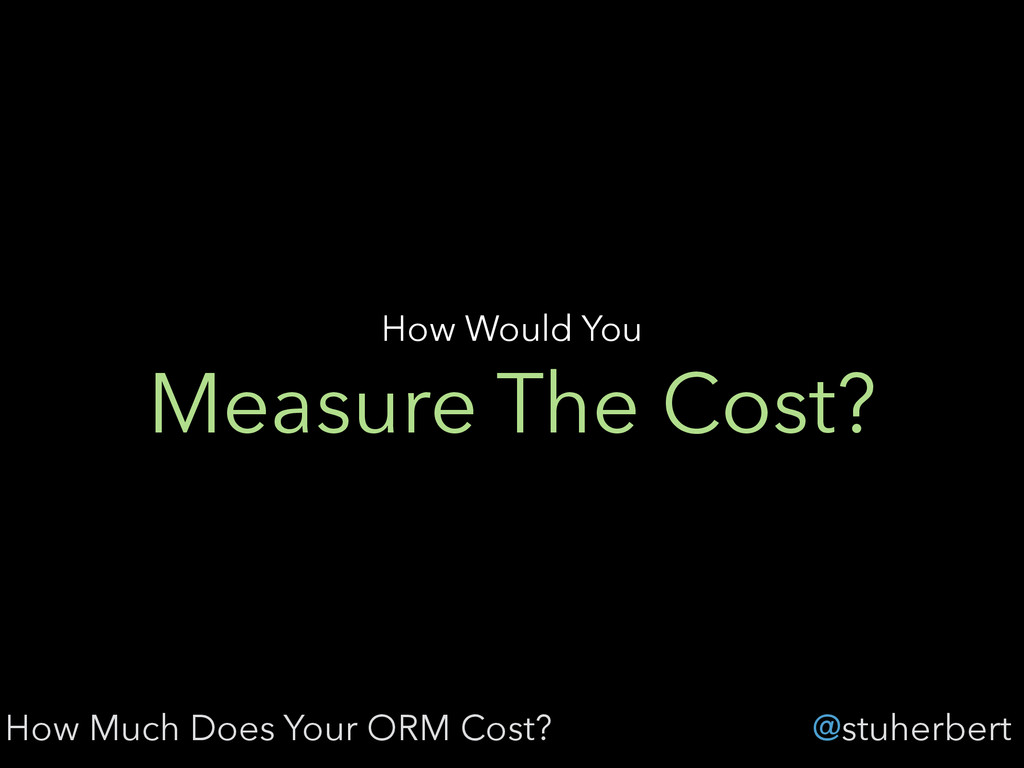 @stuherbert Measure The Cost? How Would You How...