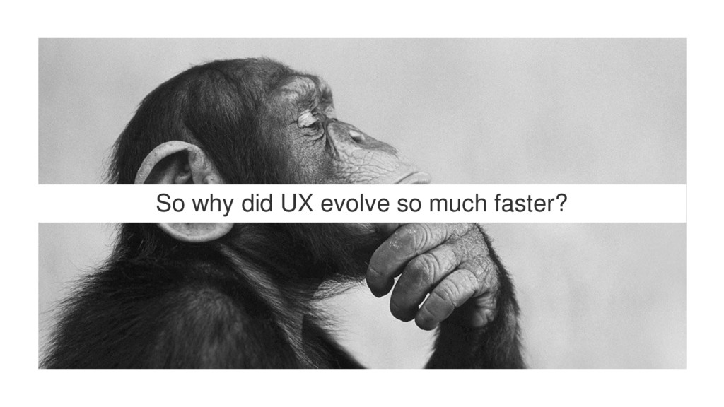 So why did UX evolve so much faster?