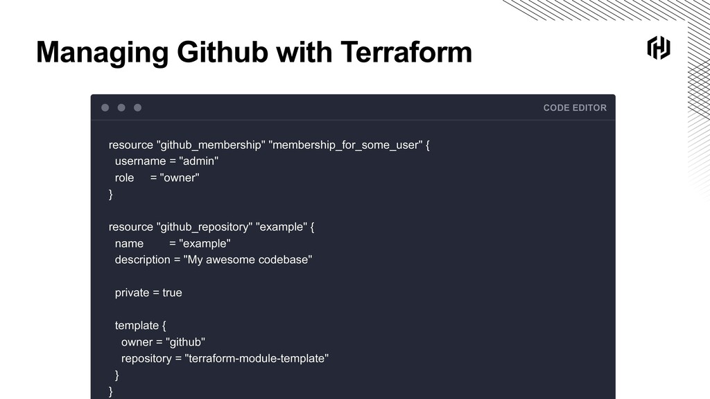 Managing Github with Terraform CODE EDITOR reso...