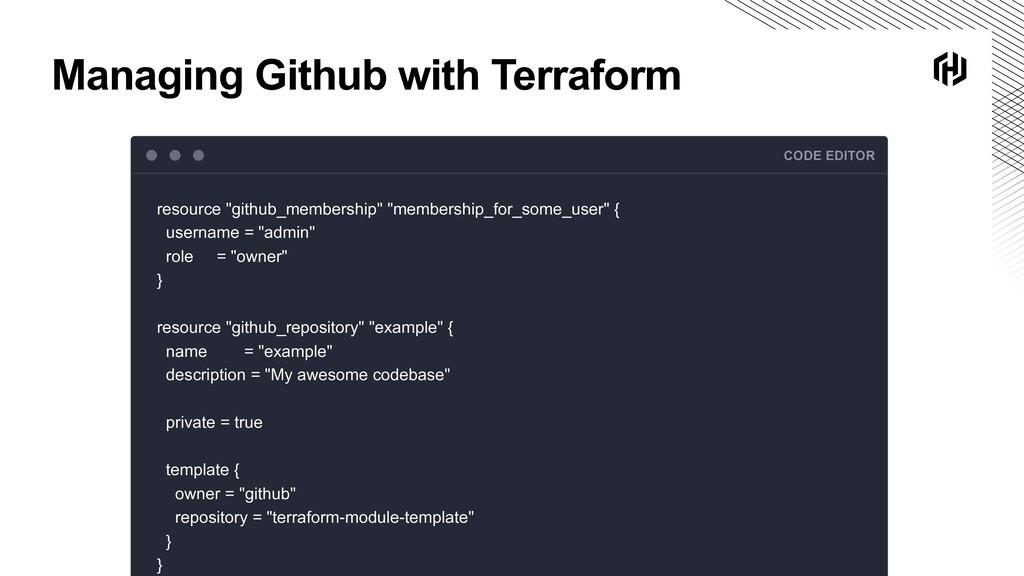 Managing Github with Terraform CODE EDITOR reso...