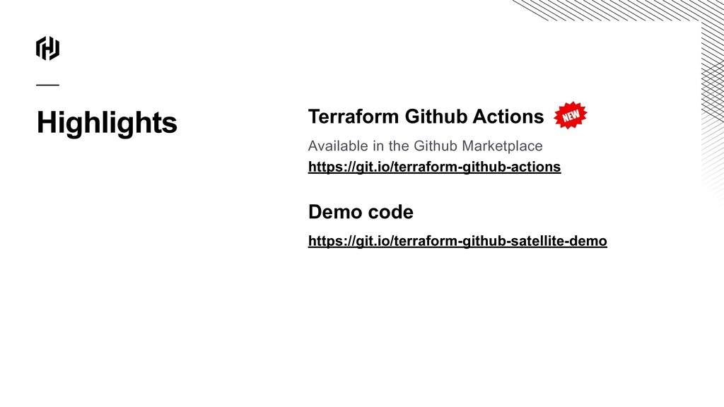 Highlights Terraform Github Actions Available i...