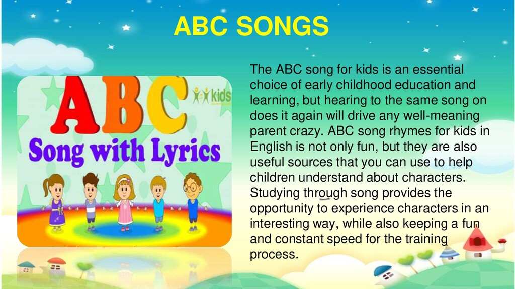 ABC SONGS The ABC song for kids is an essential...