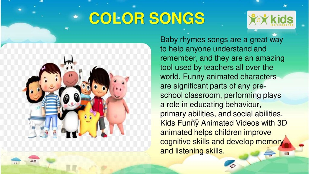 COLOR SONGS Baby rhymes songs are a great way t...