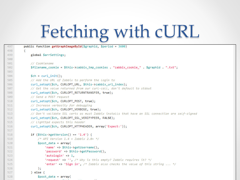 Fetching with cURL