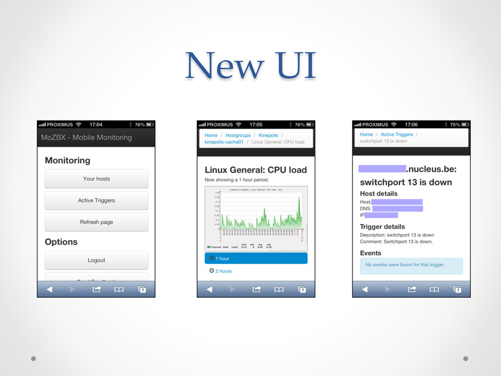 New UI