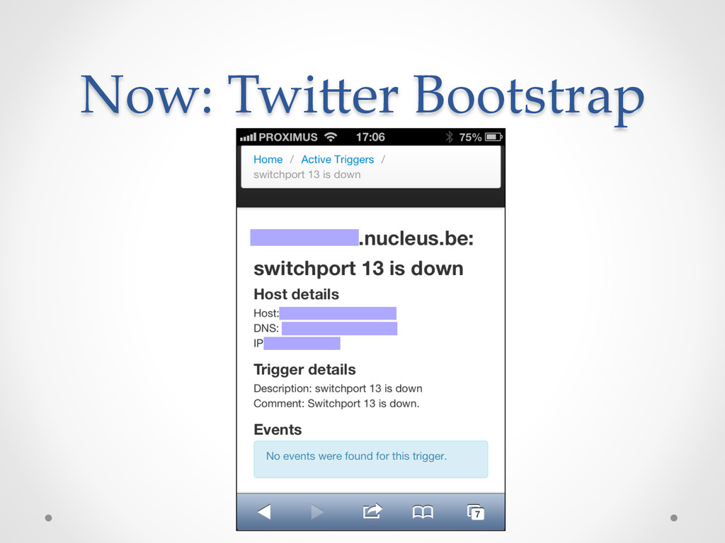Now: Twi,er Bootstrap