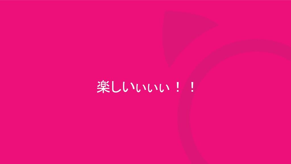 楽しいぃぃぃ!!