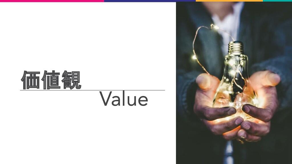 価値観 Value