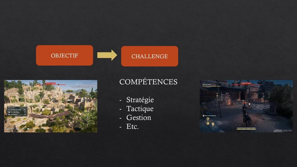 OBJECTIF CHALLENGE COMPÉTENCES - Stratégie - Ta...