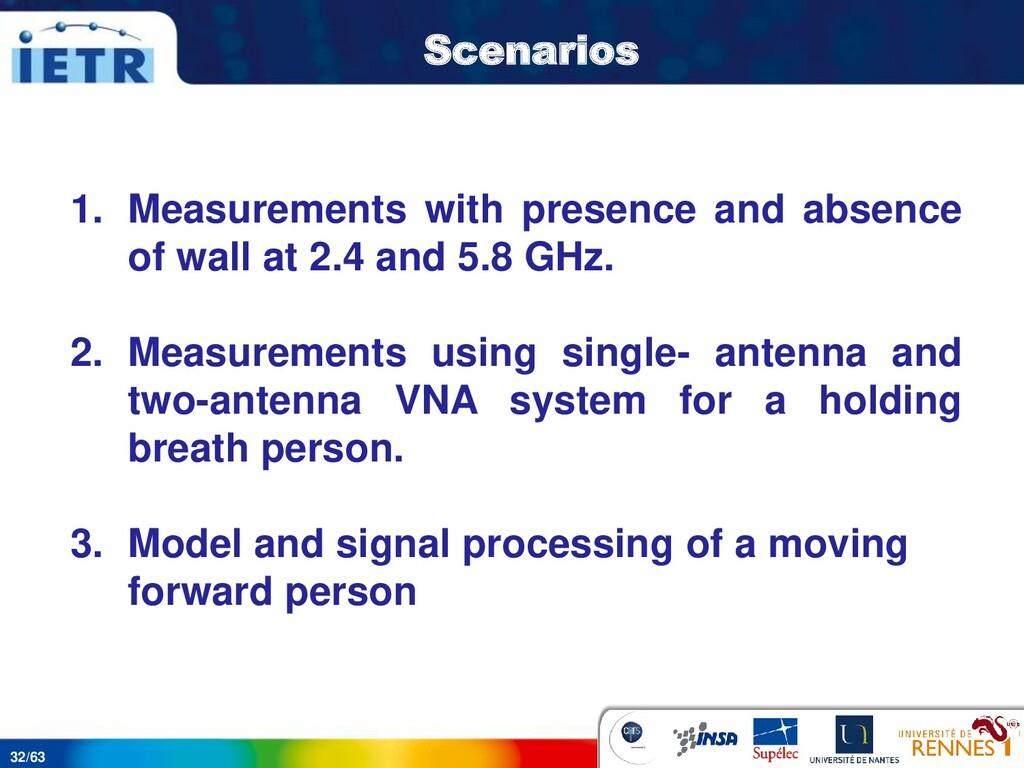 32/63 Scenarios 1. Measurements with presence a...