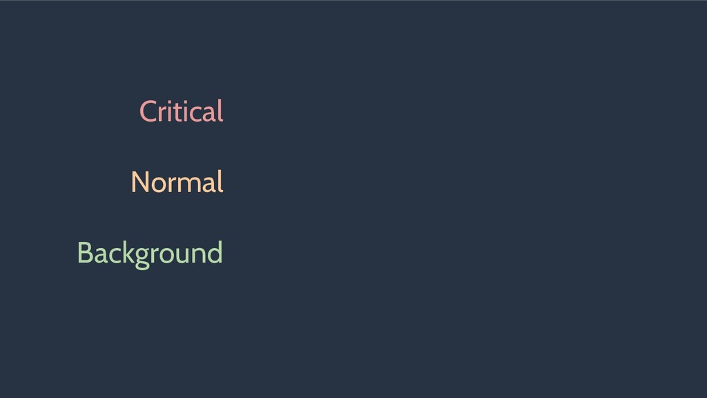 Critical Normal Background