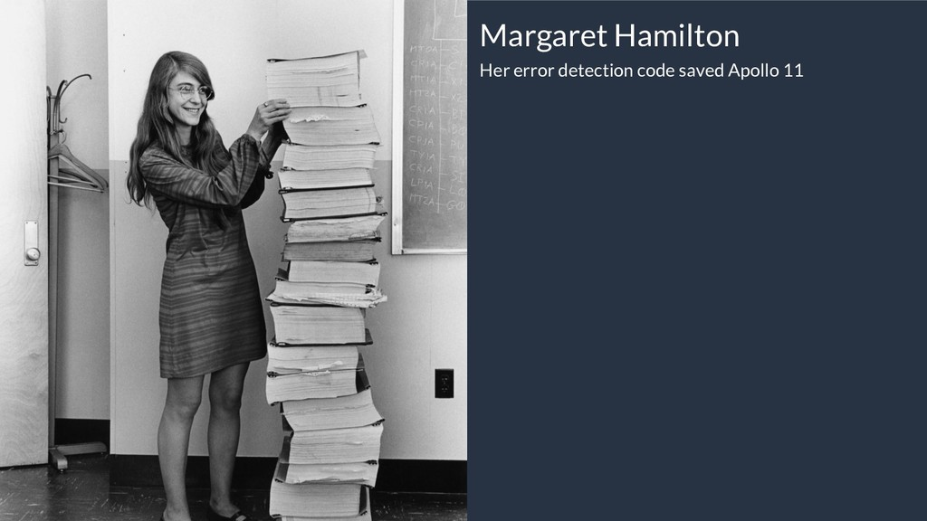 Margaret Hamilton Her error detection code save...