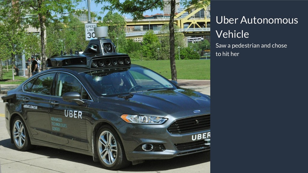 Uber Autonomous Vehicle Saw a pedestrian and ch...