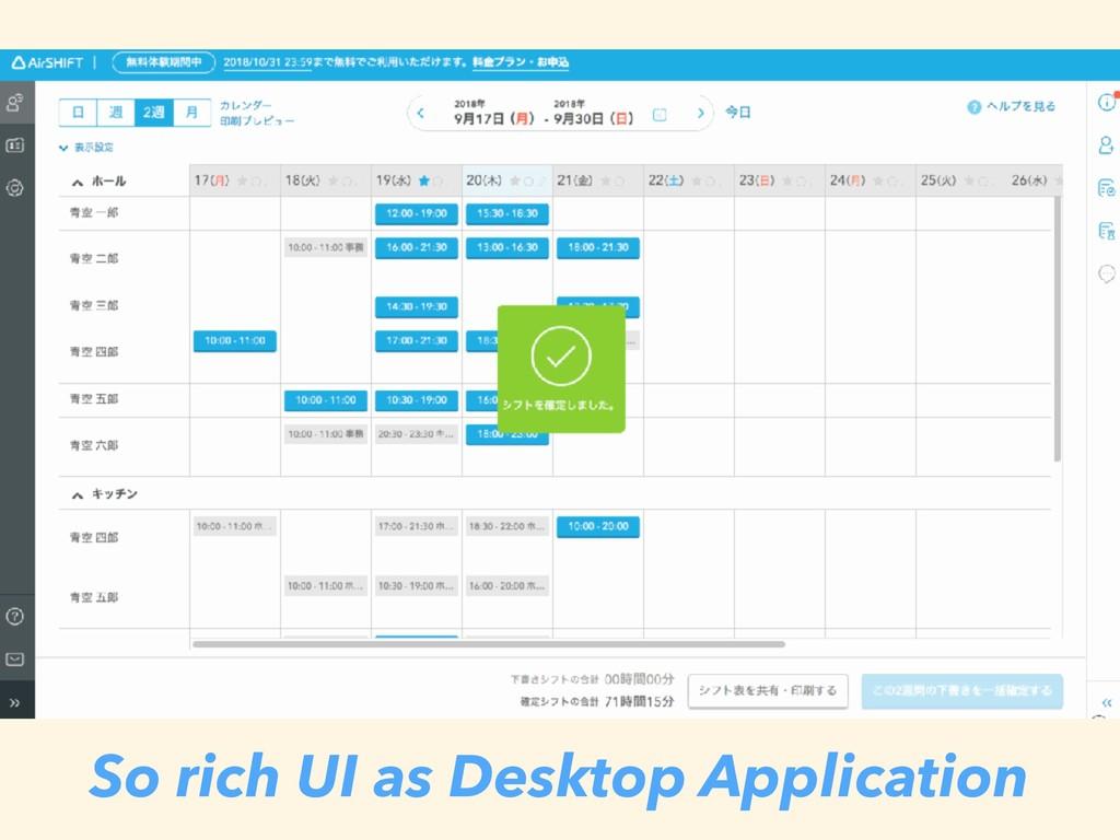 So rich UI as Desktop Application