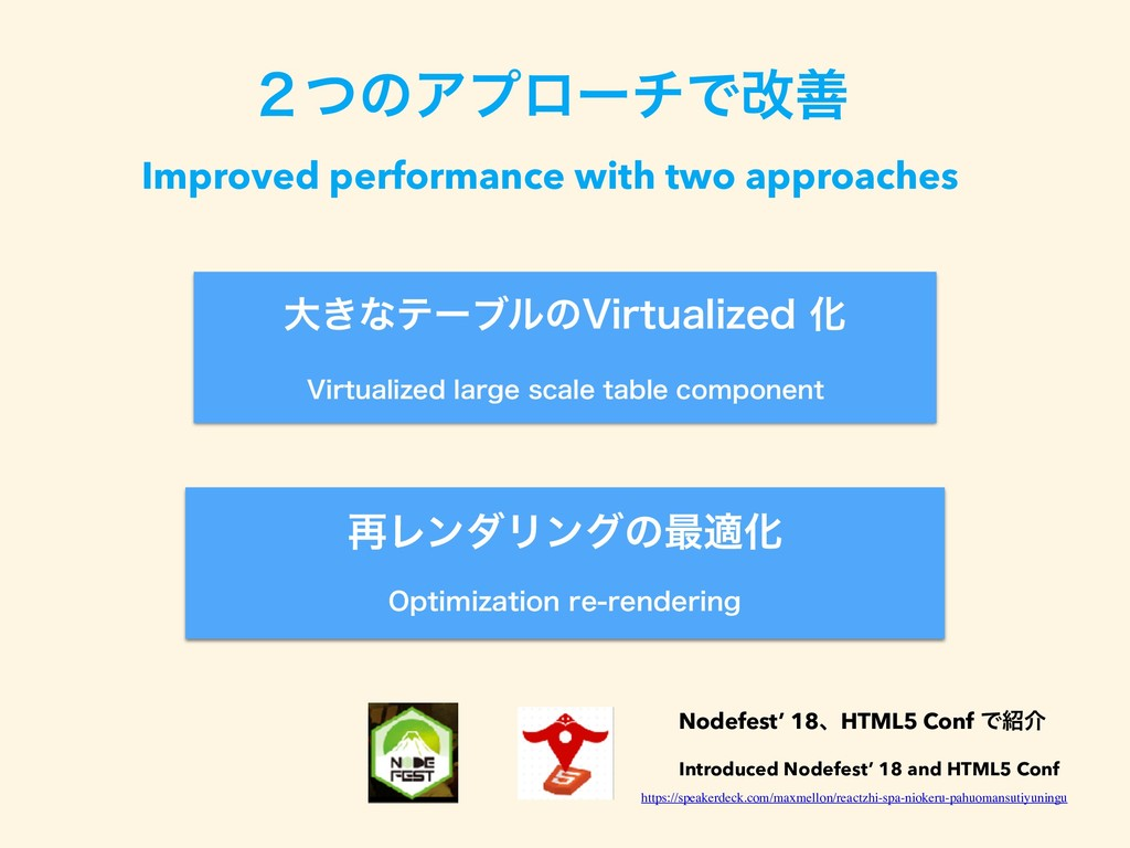̎ͭͷΞϓϩʔνͰվળ Improved performance with two appro...