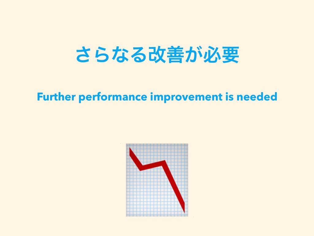 ͞ΒͳΔվળ͕ඞཁ Further performance improvement is ne...
