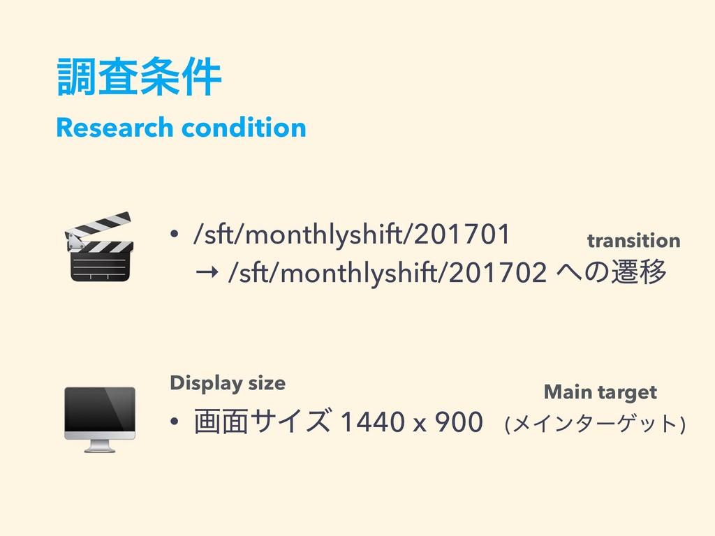 ௐࠪ݅ Research condition • /sft/monthlyshift/201...