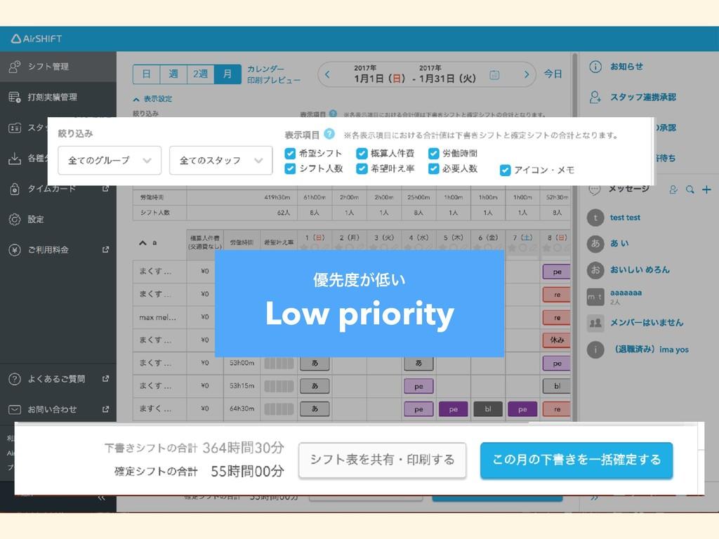༏ઌ͕͍ Low priority