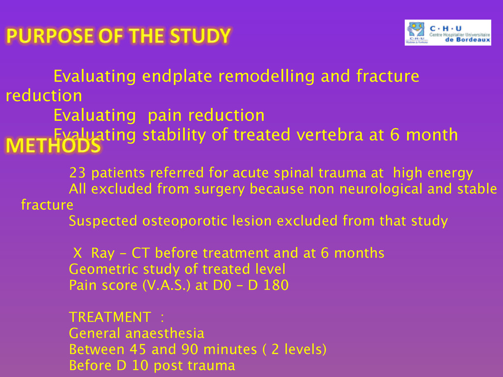23 patients referred for acute spinal trauma ...