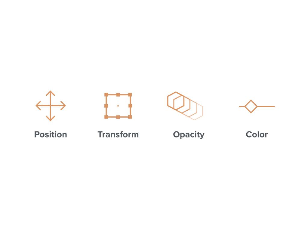 Position Transform Opacity Color