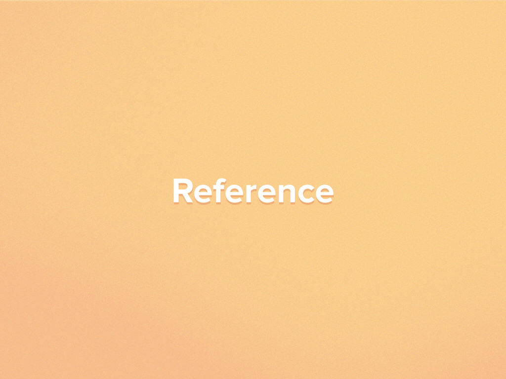 Reference Reference