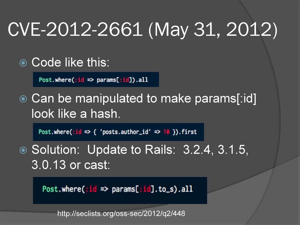CVE-2012-2661 (May 31, 2012) ž Code like this...