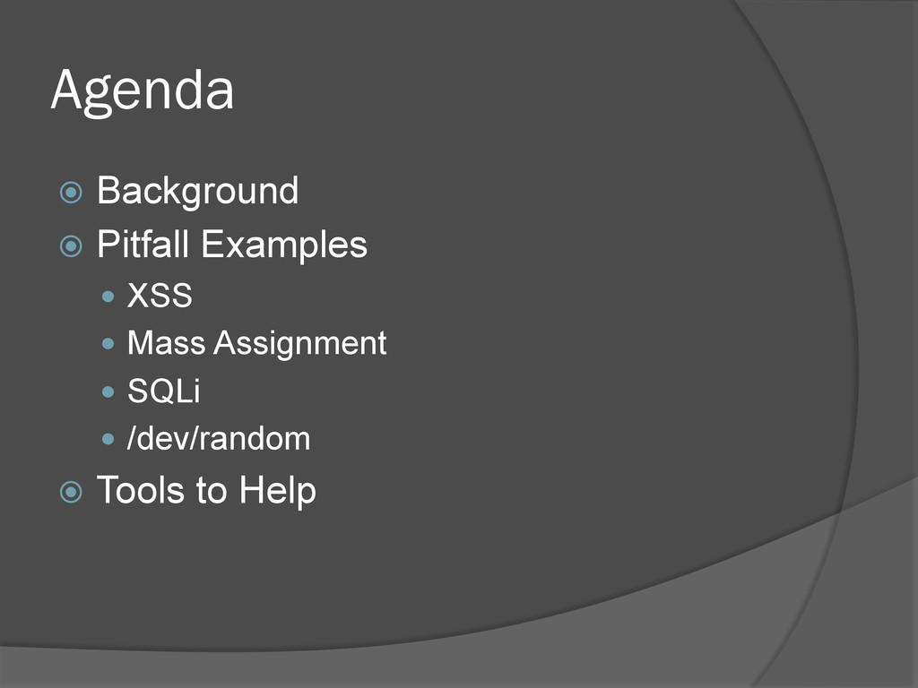 Agenda ž Background ž Pitfall Examples — ...