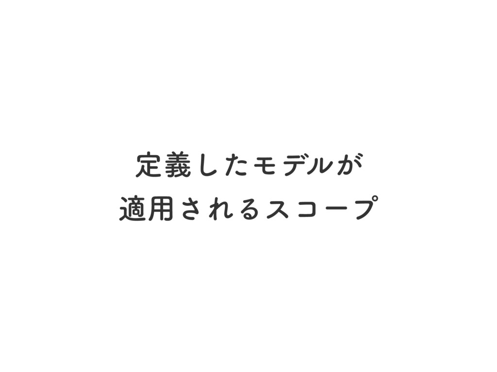 ఆٛͨ͠Ϟσϧ͕ ద༻͞ΕΔείʔϓ