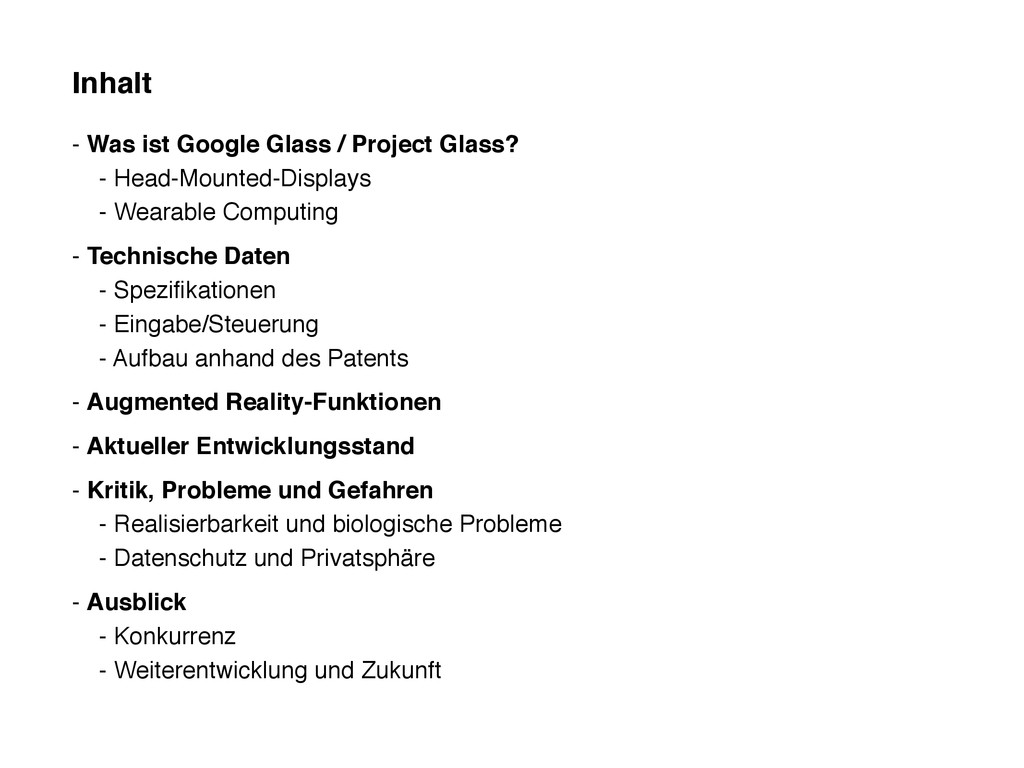 Inhalt - Was ist Google Glass / Project Glass? ...